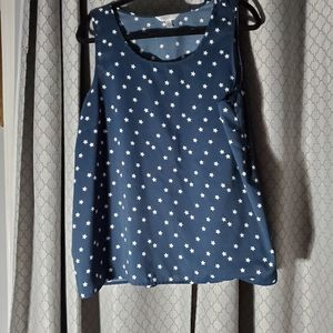 TIME AND TRUE Navy Blue with Stars Top